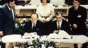 Genscher unterzeichnet Maastrichter Vertrag