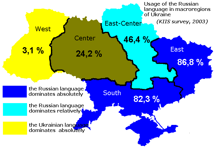 Ukraine russian and ukrainian language