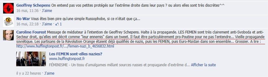 """Caroline Fourest : """"Les Femen ne sont pas nazies !"""" Bon, enquêtons alors… Fourest-facebook-6"""