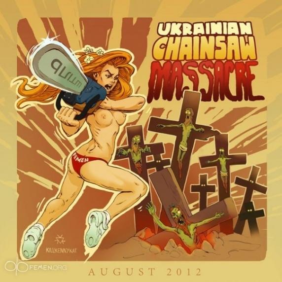 """Caroline Fourest : """"Les Femen ne sont pas nazies !"""" Bon, enquêtons alors… Tronconneuse-4"""