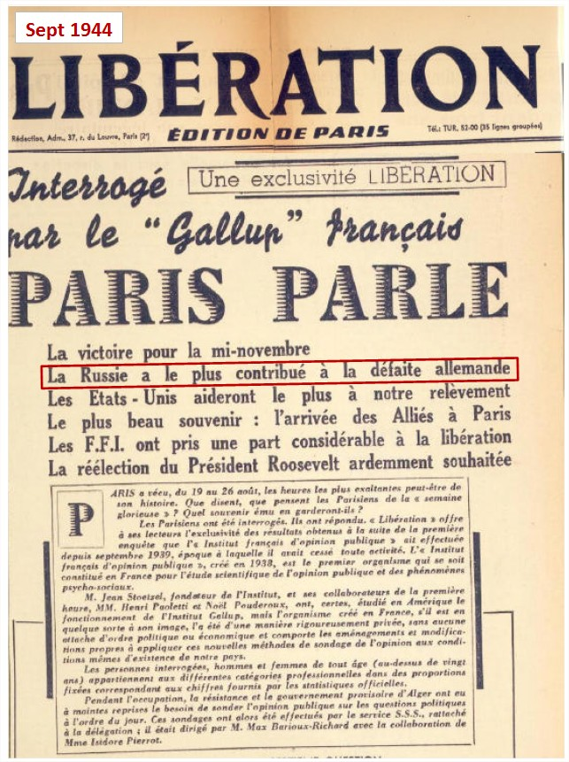 C'est la Russie qui nous a libéré du nazisme, fait historique occulté pour cause de propagande... Liberation-19441