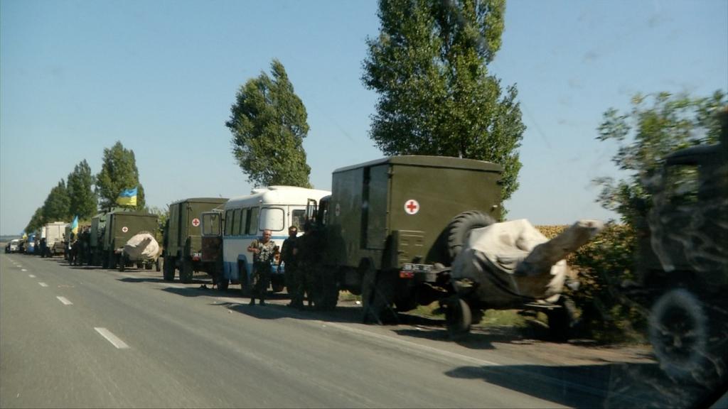 Convoi militaire déguisé en convoi médical.