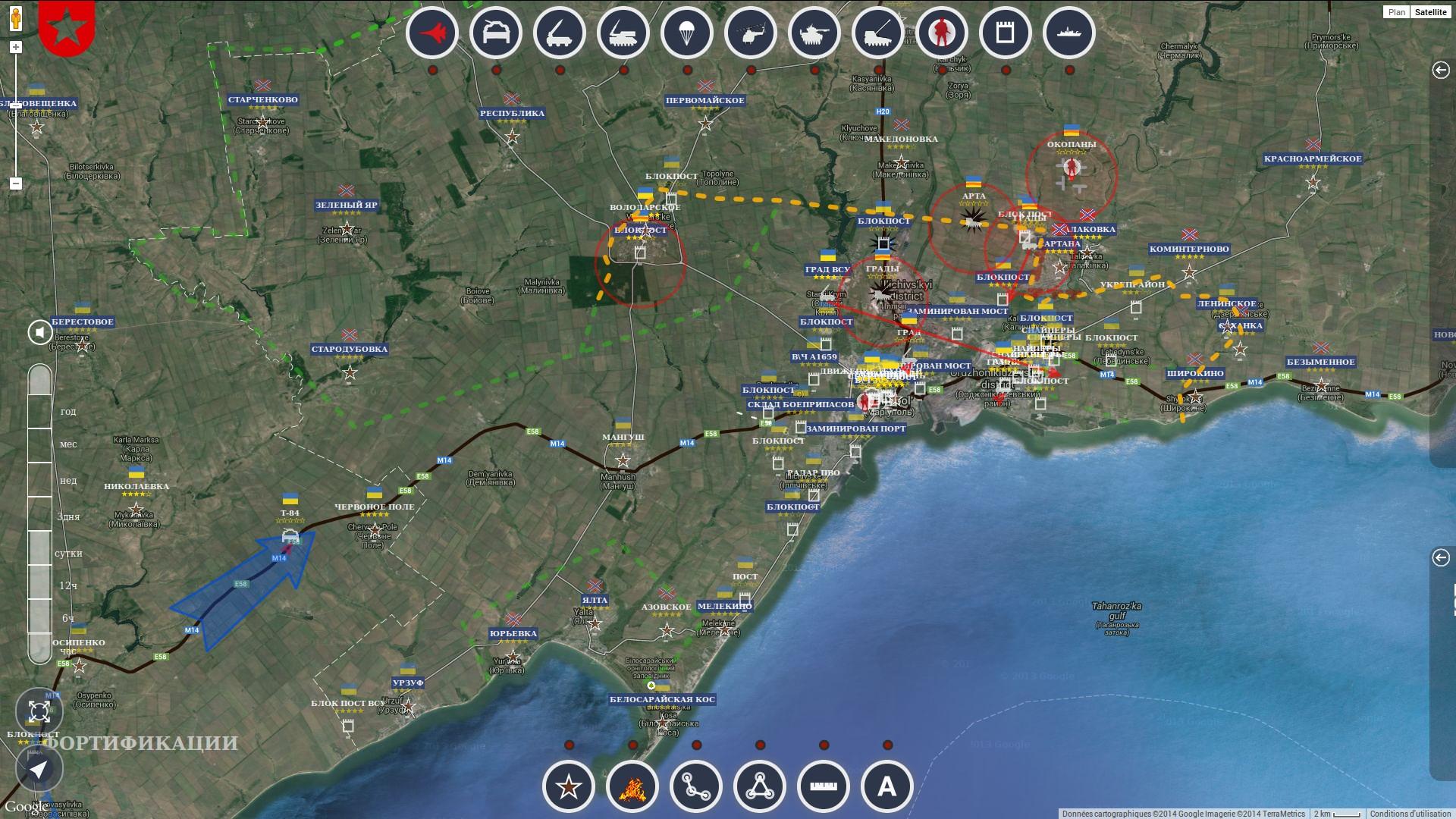 Situation autour de Marioupol le 8 septembre