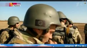 Soldats du bataillon Azov à l'entraînement
