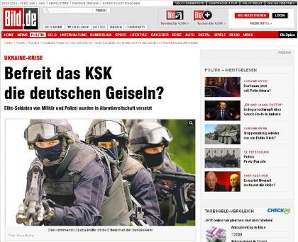 Le Bild du 29 avril : « Le KSK va-t-il libérer les otages ? »