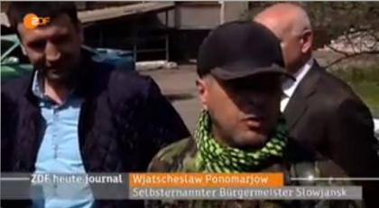Ponomarev, toujours présenté par la télévision allemande comme le maire « autoproclamé » de Slaviansk