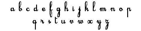 Alphabet en lettres cursives