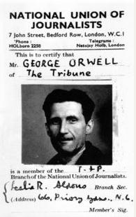 La carte de presse de George Orwell