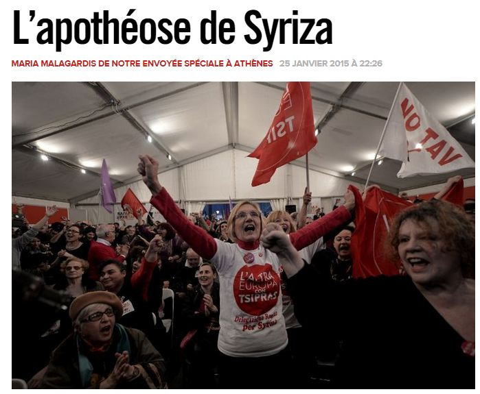 [Reprise] L'alternative de Syriza : passer sous la table ou la renverser