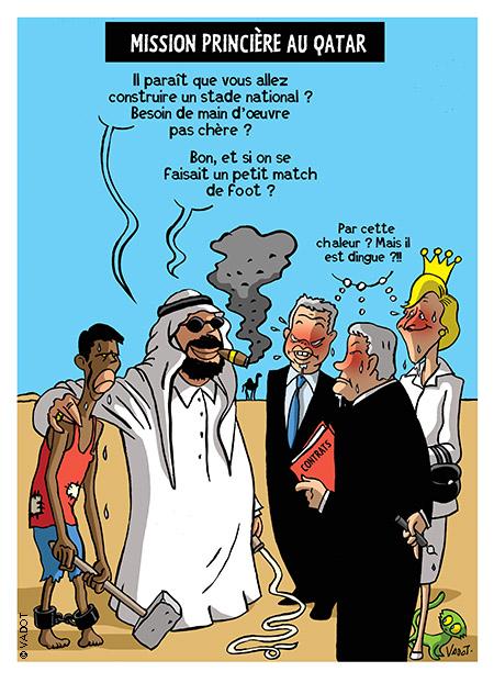 Delamarche, Sapir, Béchade, dernières infos économie UE + caricatures actus 029_Qatar