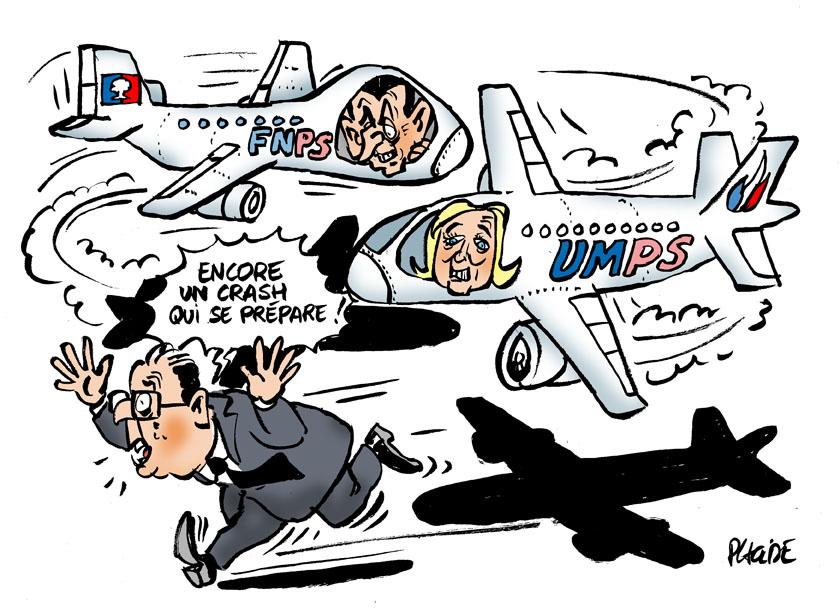 Delamarche, Sapir, Béchade, dernières infos économie UE + caricatures actus 15-03-24-hollande-le-pen-sarkozy