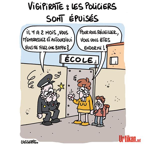 Delamarche, Sapir, Béchade, dernières infos économie UE + caricatures actus 150331-vigipirate-epuises-lasserpe