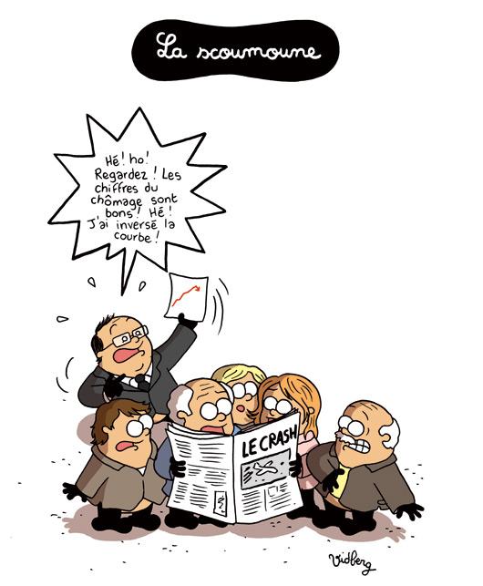 Delamarche, Sapir, Béchade, dernières infos économie UE + caricatures actus 82-La-scoumoune