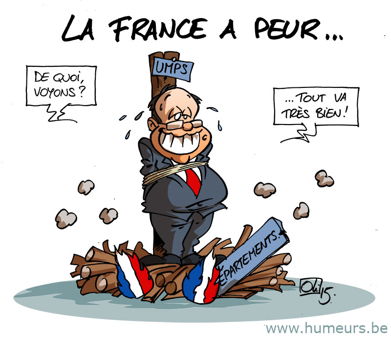 Delamarche, Sapir, Béchade, dernières infos économie UE + caricatures actus Humeur_1123_France-Bleu-Marine-Hollande-Le-Pen