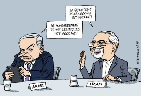 Delamarche, Sapir, Béchade, dernières infos économie UE + caricatures actus Israel-et-iran-2015