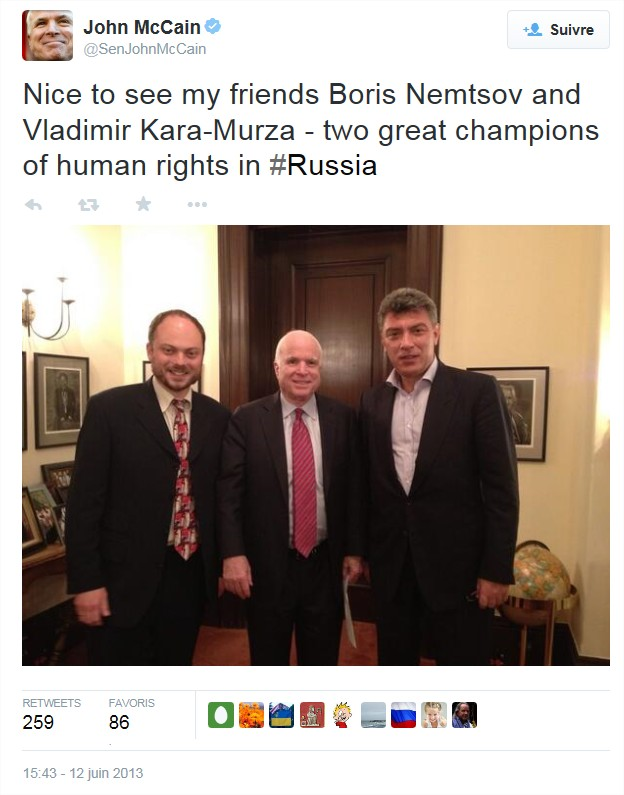 Un exemple où on essaie d'imposer une théorie du complot : l'assassinat de Boris Nemtsov