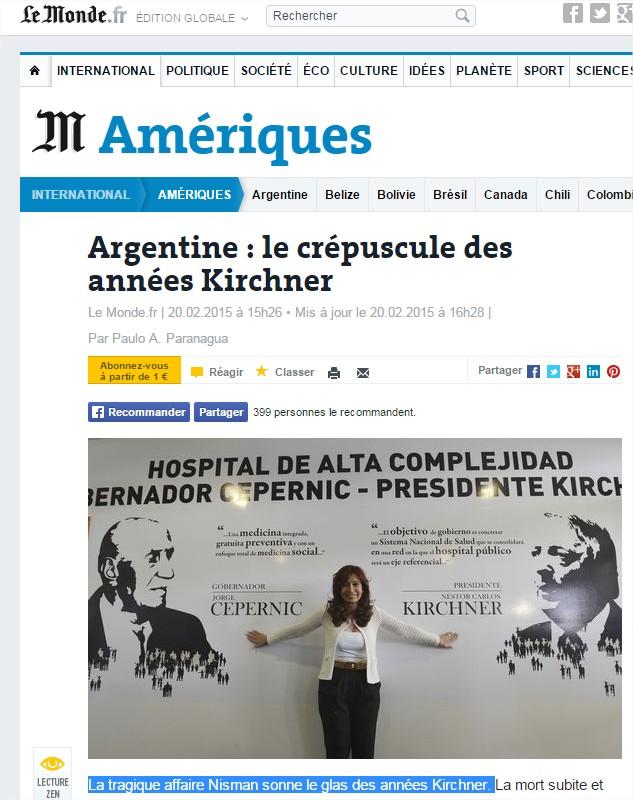[Propagande 1/2] Les médias chiens de garde à l'attaque de l'Argentine...