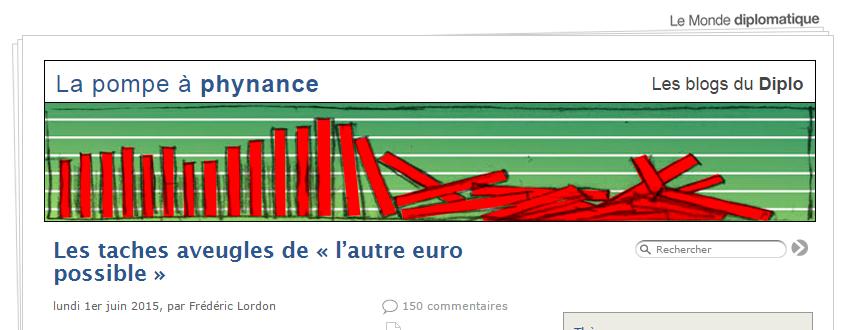 Les taches aveugles de « l'autre euro possible », par Frédéric Lordon