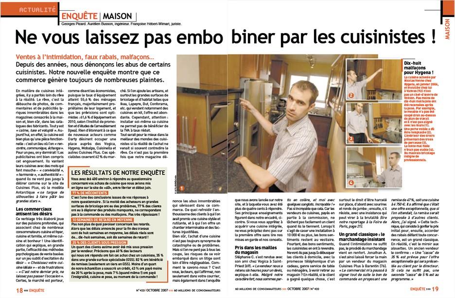 Consommation Ne Vous Laissez Pas Embobiner Par Les Cuisinistes