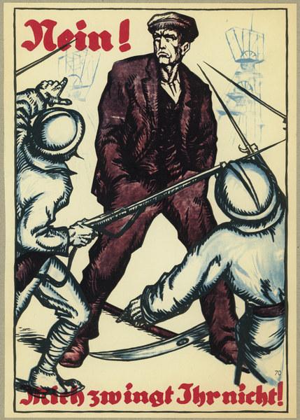affiche allemandeOccupation de la Ruhr par la France en 1923 Ruhrbesetzung