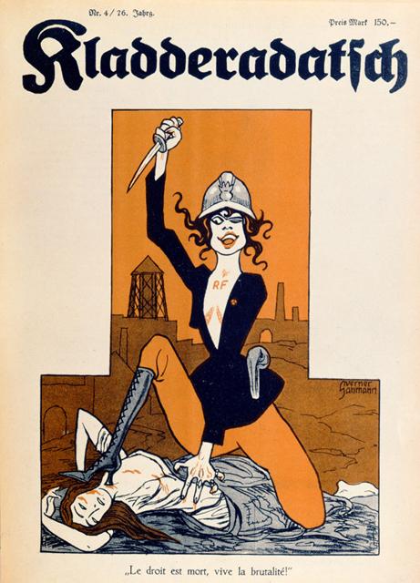 affiche allemande Occupation de la Ruhr par la France en 1923 Ruhrbesetzung