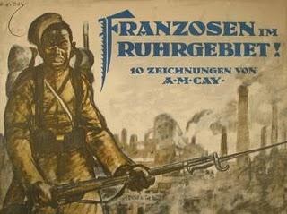 honte noire schwarze schmach Occupation de la Ruhr par la France en 1923 Ruhrbesetzung