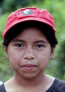 Jeune indigène Lenca avec sa casquette du Che