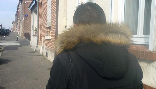 Nicolas L. dans les rues d'Amiens, le 24 février 2016 (S. BILLARD).
