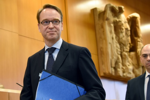 Le président de la Bundesbank allemande Jens Weidmann (ici le 16 février 2016 à Karlsruhe) très critique envers les mesures de la Banque centrale européenne (BCE) (AFP/Uli Deck)