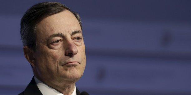 Mario Draghi a mis beaucoup de ses forces dans la bataille ce 10 mars. (Crédits : © Ints Kalnins / Reuters)