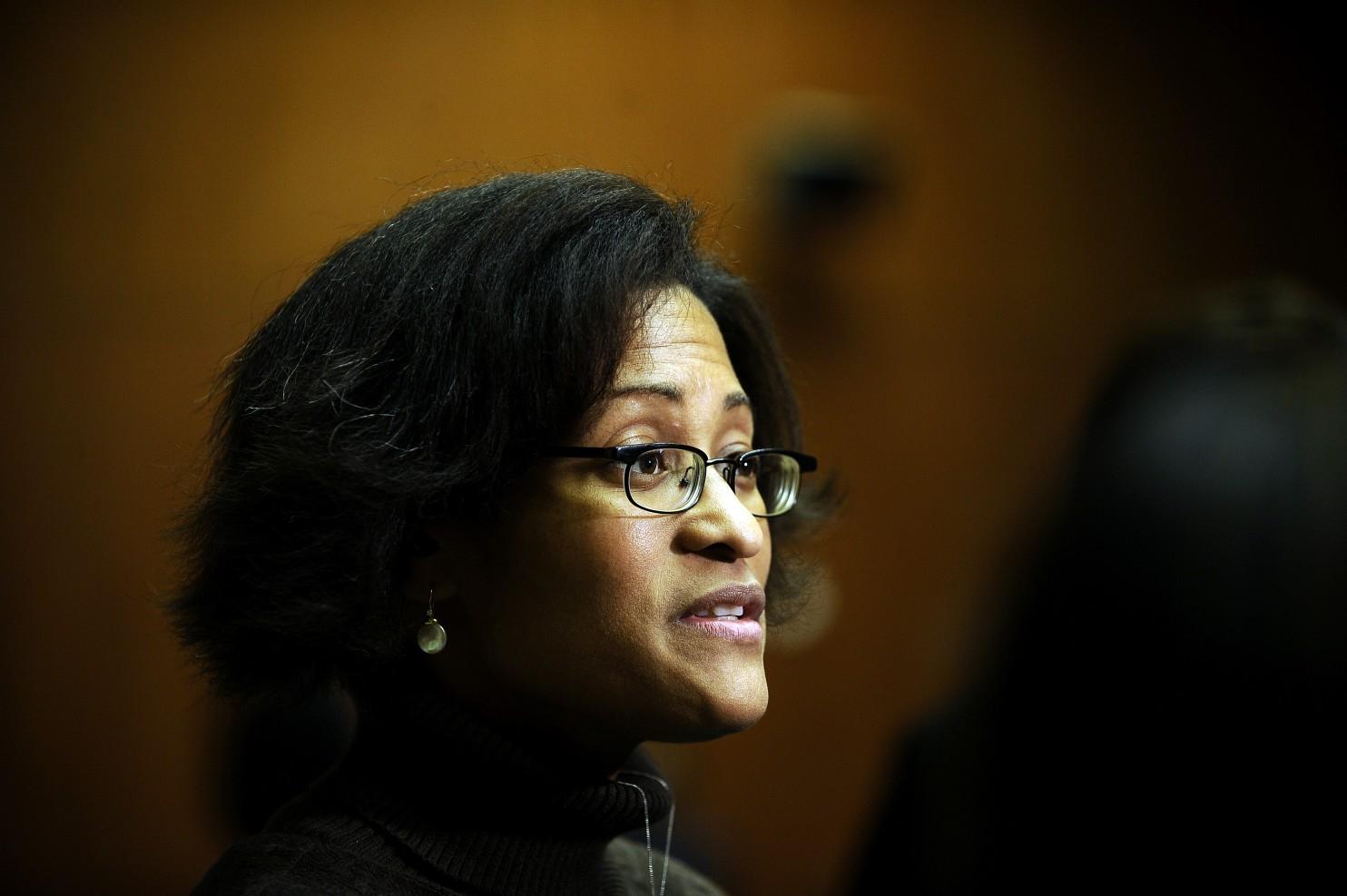 Cheryl Mills, qui a occupé le poste de directrice de cabinet d'Hillary Clinton, s'est demandée si le département d'État pouvait fournir un appareil chiffré tel que celui de la National Security Agency qu'utilise le président Obama. (Filippo Monteforte/AFP/Getty Images)