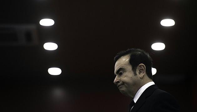 Carlos Ghosn, PDG de Renault-Nissan, au salon de l'auto de Pékin, le 29 avril 2016 (F. DUFOUR/AFP).