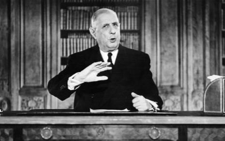 LE PRÉSIDENT FRANÇAIS CHARLES de GAULLE A MIS SON VETO À L'ENTRÉE BRITANNIQUE EN 1963