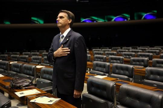 Jair Bolsonaro, un politicien brésilien de droite pro-destitution qui devrait être candidat à la présidence. Photo: Fernando Bizerra/EPA/Newscom