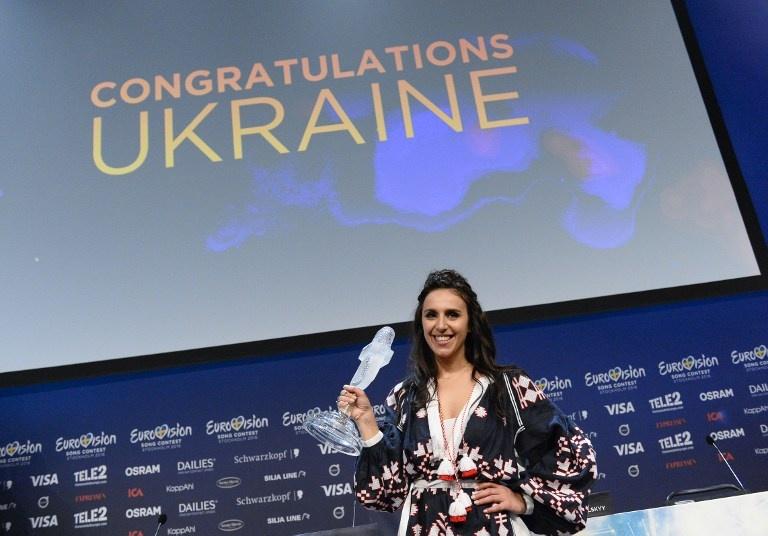 Djamala, représentant l'Ukraine avec sa chanson «1944», a remporté l'Eurovision 2016. Jonathan Nackstrand / AFP