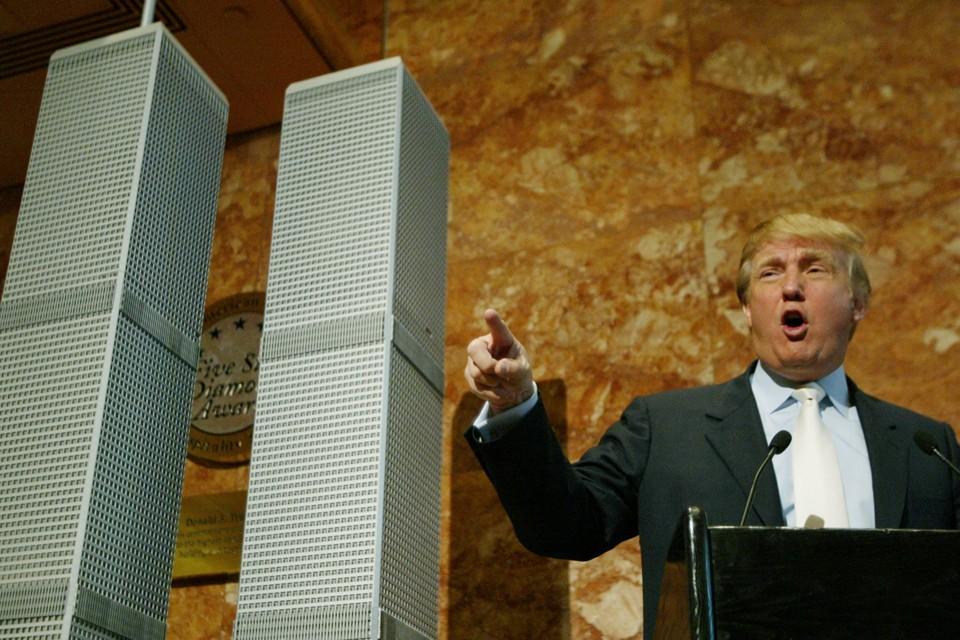 Donald Trump dévoile une proposition de reconstruction des tours jumelles en 2005