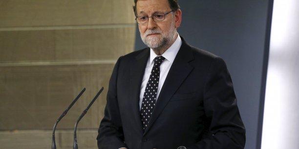 Mariano Rajoy embarassé par une lettre envoyé à Bruxelles. (Crédits : JUAN MEDINA)