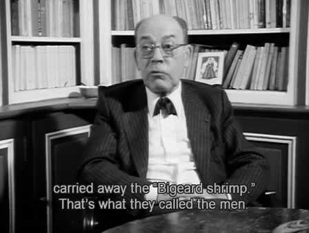 """""""Bigeard shrimp"""" (crevettes Bigeard) : Paul Teitgen rappelle le nom donné aux cadavres jetés à la mer par les autorités."""