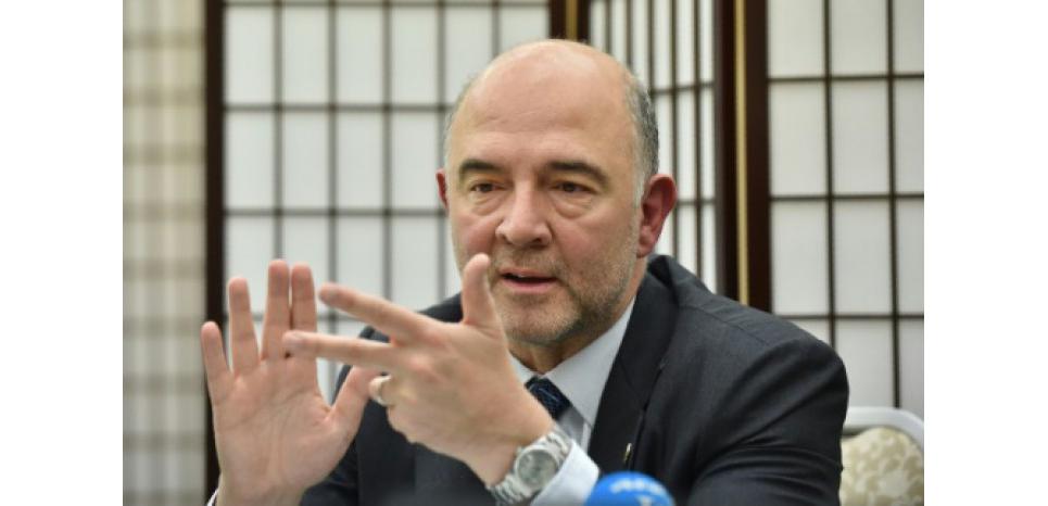 Le commissaire européen Pierre Moscovici à Sendai au Japon, le 20 mai 2016((c) Afp)