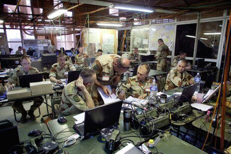 Le centre opérationnel de l'opération Serval à Gao, au Mali. © Le centre opérationnel de l'opération Serval à Gao, au Mali.