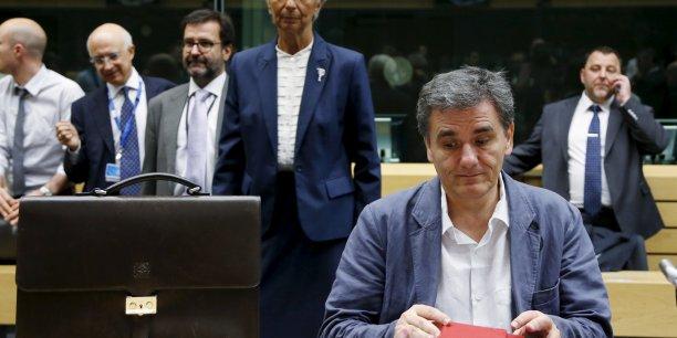 Euclide Tsakalotos, ministre des Finances grec, n'a pas réussi à décider la BCE à aider son pays. (Crédits : Reuters)