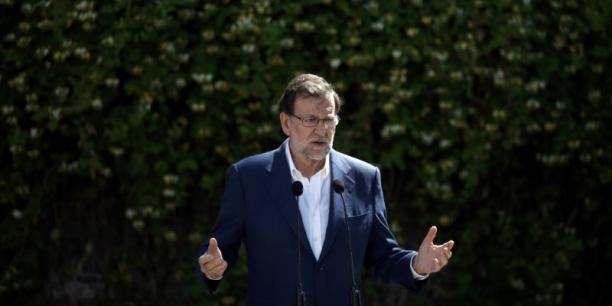 Mariano Rajoy peut célébrer une victoire électorale en Espagne, mais n'est pas encore sûr de rester à la Moncloa. (Crédits : JUAN MEDINA)