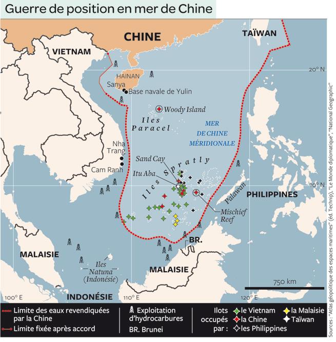 Carte Chine Philippines.L Arbitrage Sur La Mer De Chine Meridionale Par Ruolin Zheng