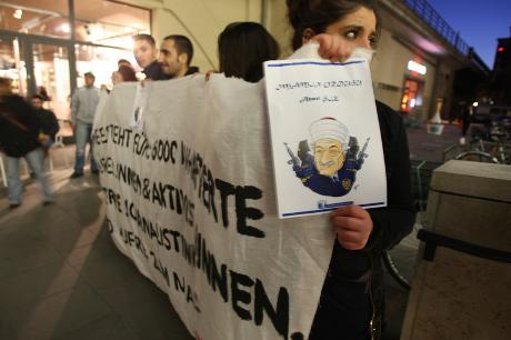 Protestation contre la conférence sur le mouvement de Gülen, Berlin, mars 2012/Demotix/Theo Schneider/Tous droits réservés