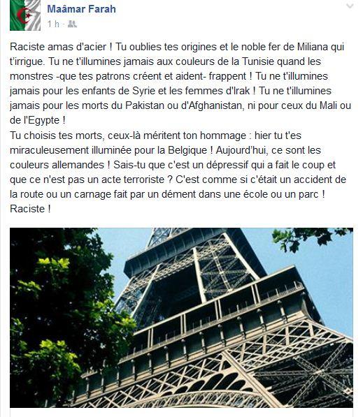 Le racisme de la Tour Eiffel...
