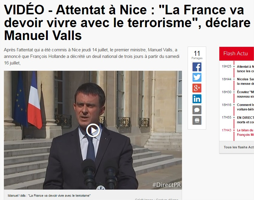[Vélléité] Deux ans de combat de Valls contre le terrorisme (mais seulement sur Twitter...) MAJ