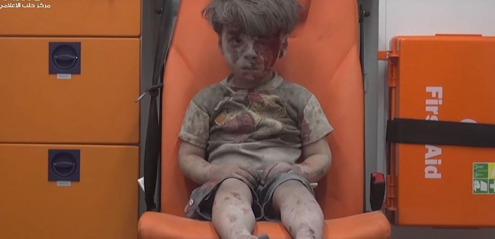 Omran Daqneesh, 5 ans.<sup id=