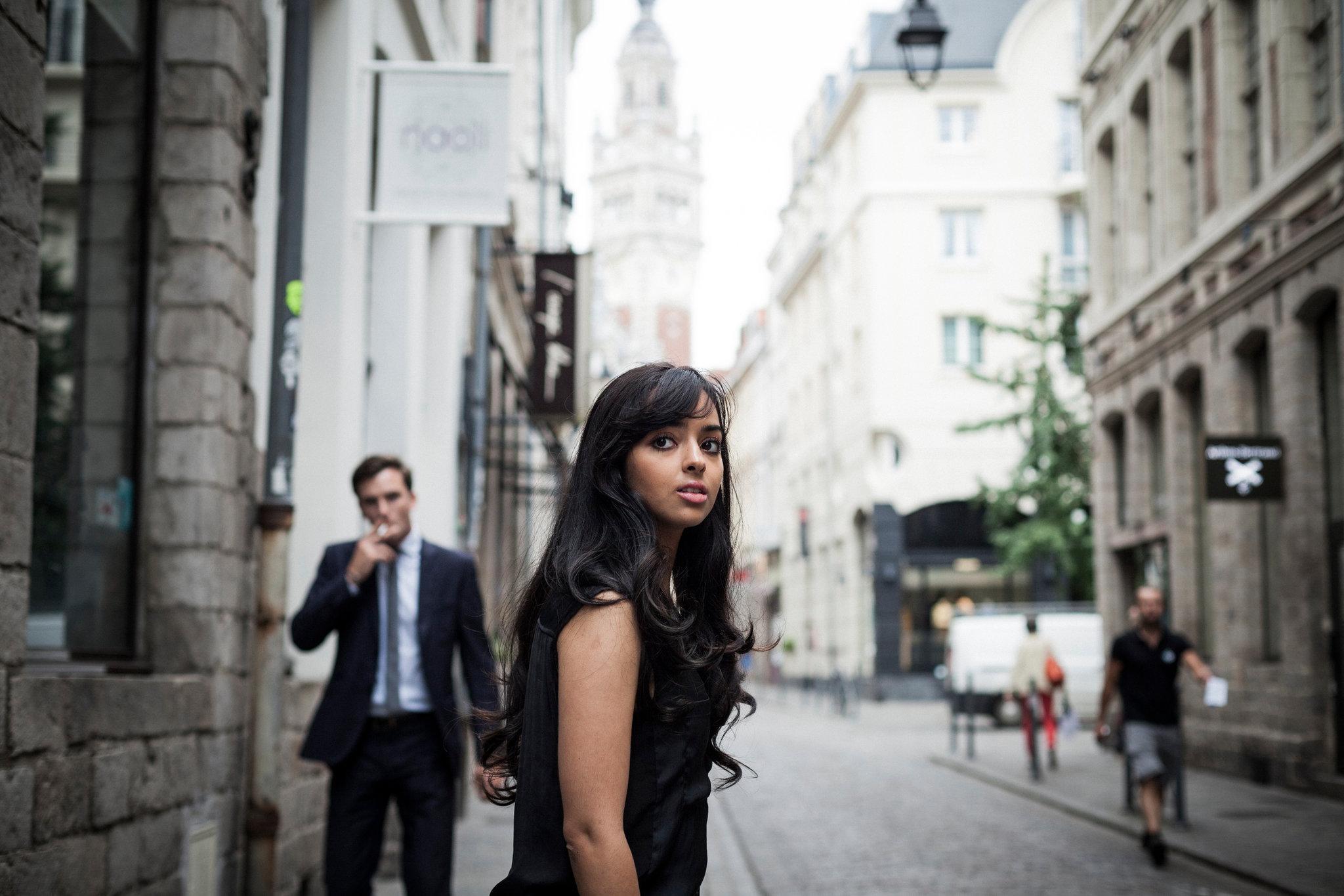 Assia Boukhelifa, 22 ans, est étudiante en sciences politiques à Lille. Credit Ed Alcock pour le New York Times