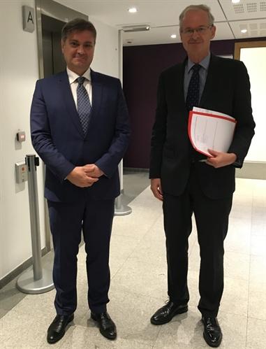 Denis Zvizdic a rencontré à Bruxelles Christian Danielsson, commissaire européen à l'élargissement (photo gouvernement de Bosnie-Herzégovine)