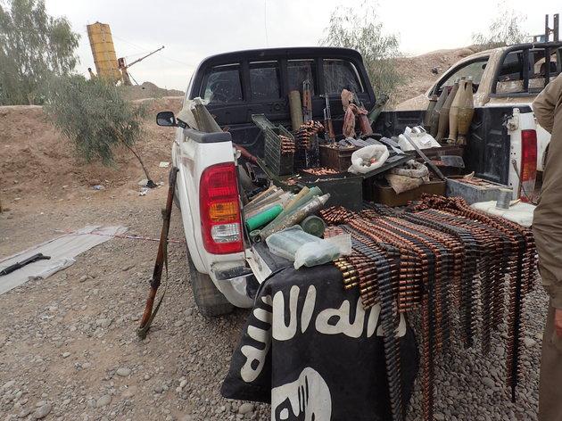 Armes découvertes dans un camion de l'État islamique